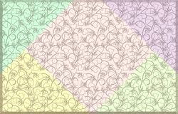 Background image in pastel colours . Background image in pastel colors with geometric pattern in the form of squares Stock Image