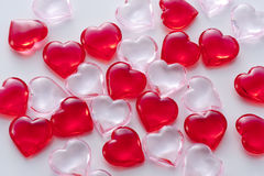 Background image of red hearts Stock Images