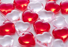 Background image of red hearts Royalty Free Stock Photo