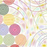 Background image of round, geometric elements. Abstract background of round elements of different size and different colors. Vector design Royalty Free Illustration