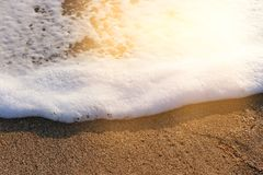 Background image of sandy beach and ocean waves.  royalty free stock photos
