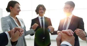 Background image of a successful business team. stock photo