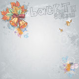 Background image for text with a school bell, autumn leaves Stock Photos