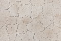 The texture of cracked earth when drying up water bodies royalty free stock image