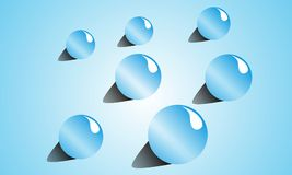 Background Image Of Water Droplets Theme vector illustration