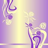 Background image for website, yellow, lilac. Background, floral ornament, yellow milky purple lilac Stock Images