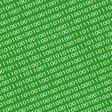 Background image with zeros and units on green. royalty free illustration