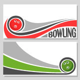 Background images for text on the subject of bowling Stock Photography