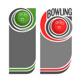 Background images for text on the subject of bowling Royalty Free Stock Photos