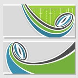 Background images for text on the subject of rugby Royalty Free Stock Image