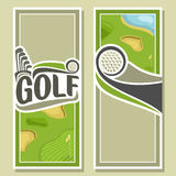 Background images for text on the theme of golf Stock Image