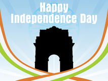 Background with india gate, flag color stripes Stock Image