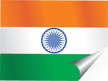 Background with indian national flag Royalty Free Stock Photo