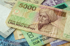 Background from Indonesian rupiah Stock Images