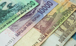 Background from Indonesian rupiah Stock Photo