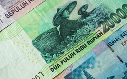 Background from Indonesian rupiah Royalty Free Stock Photo