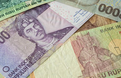 Background from Indonesian rupiah Royalty Free Stock Images