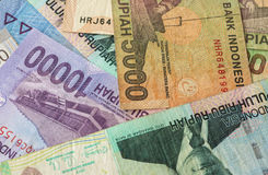 Background from Indonesian rupiah Stock Image