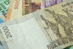 Background from Indonesian rupiah Stock Photography