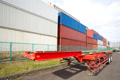 Freight shipping containers Stock Images