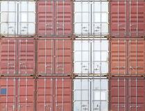 Freight shipping containers Royalty Free Stock Photography