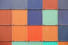 Freight shipping containers Royalty Free Stock Photos