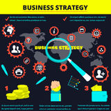 Background for information. infographics business strategy. business model