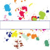 Background with ink spots Royalty Free Stock Photography