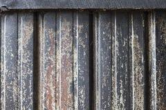 Interior Smoked Barn Siding. Background Interior Smoked Metal Barn Siding with Blackened Wood Stock Photography