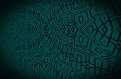 Dark black ornament on a dark green background. Background for interior, Web design. Abstract graphic pattern for  illustration. Retro style Royalty Free Stock Photos