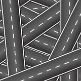 Background of the intersecting roads. Many roads intersect with each other. Crossing roads. Background of the intersecting roads Stock Image