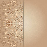 Background for invitation with brown floral Royalty Free Stock Images