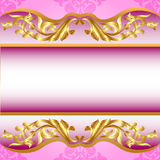 Background for invitation on holiday gold pattern Royalty Free Stock Photography