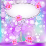 Background for the invitation with pearls stars Royalty Free Stock Image