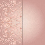 Background for invitation with pink floral pattern Stock Image