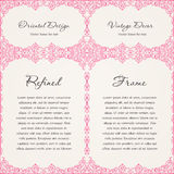 Background invitation vintage label. floral frame Royalty Free Stock Images