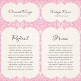 Background invitation vintage label. floral frame Royalty Free Stock Images