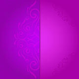 Background for invitation with violet floral Royalty Free Stock Images