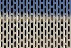 Screens or pores background. Background of iron plates with many pores Stock Images