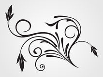 Background with isolated black tattoo Royalty Free Stock Photos