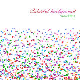 Background with isolated confetti Royalty Free Stock Photography