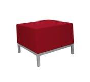 background isolated red sofa white Στοκ φωτογραφία με δικαίωμα ελεύθερης χρήσης