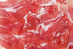 Background of italian raw ham. A background of italian raw ham Royalty Free Stock Photo