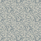 Background Ivory Leaves Allover. Digitally created background in blue with off white allover leaf pattern Stock Image