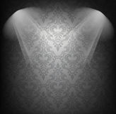 Background iwth damask pattern Royalty Free Stock Image