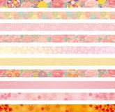 Japanese floral header Royalty Free Stock Photography