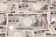 Background with japanese money Royalty Free Stock Images