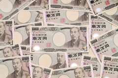 Background with japanese money Stock Photography
