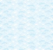 Light blue background with Japanese waves. Stock Photo