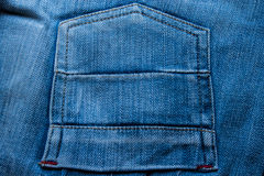 Background of jean pocket Stock Photography